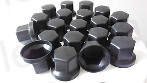 60pcs 32mm WHEEL NUT COVER BLACK PLASTIC CAPS BOLT fit LORRY TRUCK BUS TRAILER