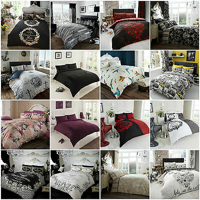 PREMIUM VINTAGE DUVET QUILT COVER SETS & PILLOW CASES DOUBLE KING SIZE BEDDING