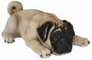 Resin-Pug-Dog-Ornament-40-cm-Garden-Home-Figurine-Realistic-Sculpture