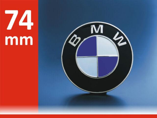 DE Emblem für BMW Auto Kofferaum 74mm Logo Plakette Roundel Badge Kofferraum