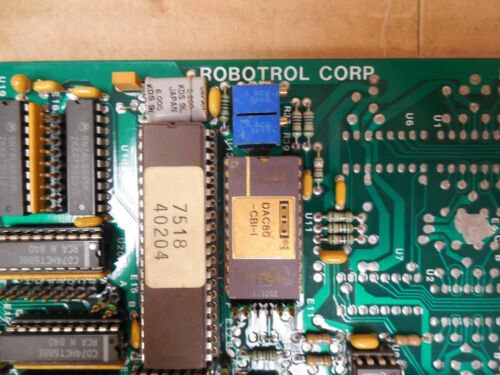 Robotrol Corp Analog I//O Input//Output Board 2020223B Used