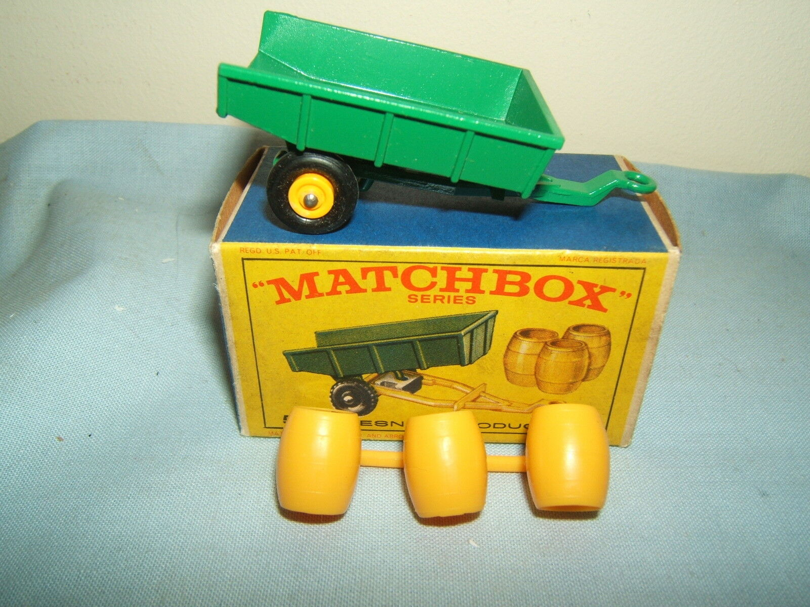 Matchbox Lesney No Modelo.. Modelo.. Modelo.. remolque basculante 51b & barriles MIB 58c60f