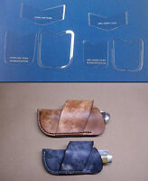 Cross Draw Knife Sheath Template Sets For Leathercrafters S-m-l Sized Folders
