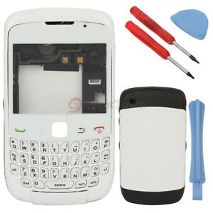 Replacement-Full-Housing-Cover-Case-Keyboard-for-BlackBerry-curve-9300-White