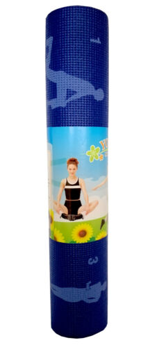 YOGA MAT WITH ILLUSTRATED INSTRUCTIONS