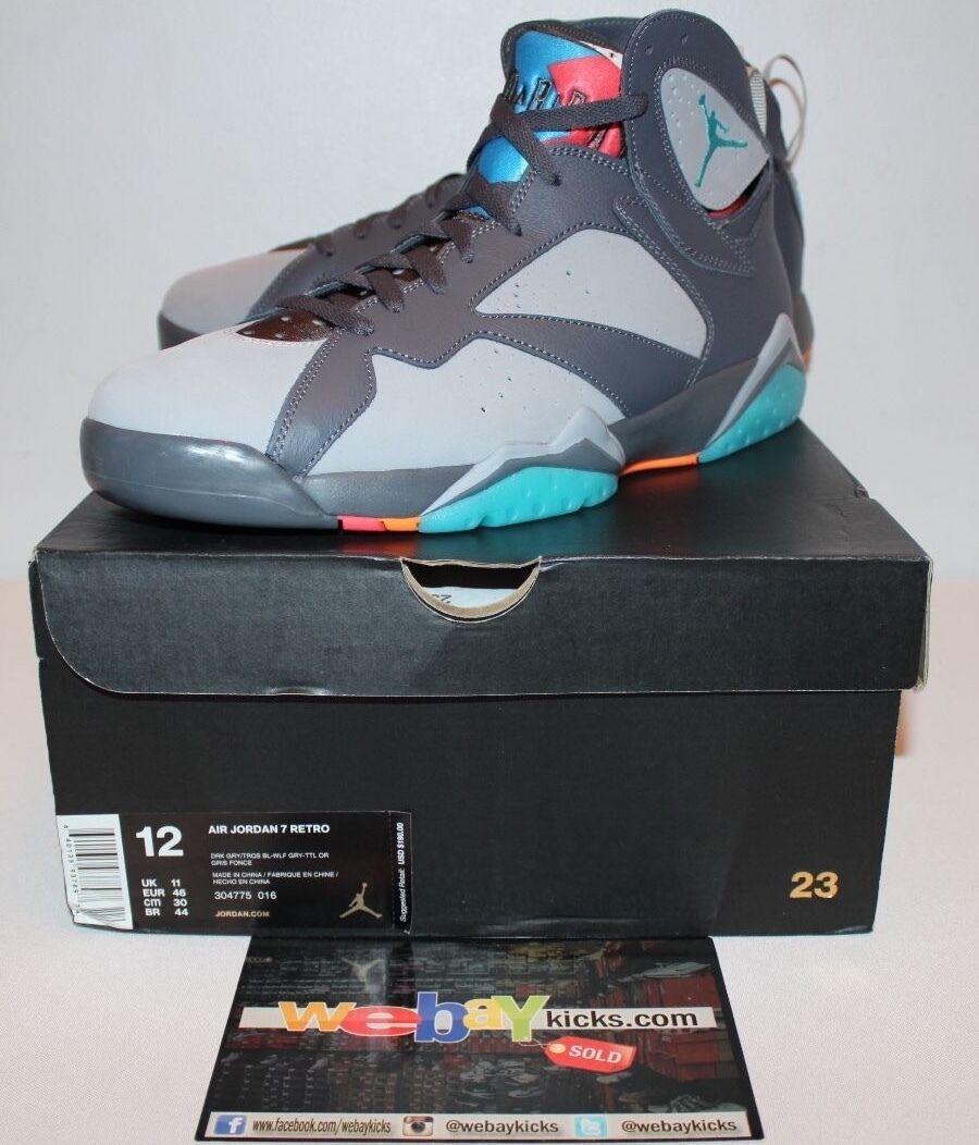Air Jordan Retro 7 VII Barcelona Days Bobcats Sneakers Men's Size 12 Brand New