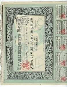 AIRCRAFT-STOCK-CERTIFICATE-1918-FRANCE-WITH-COUPONS-PARIS-MADRID-EF