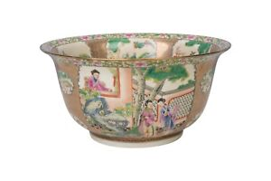 Chinese-Famille-Rose-Porcelain-Bowl-10-034-Diameter