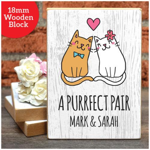 Un Purrfect Paire Chats couples cadeau personnalisé pour les couples son lui Anniversaire