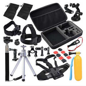 30in1-Head-Chest-Mount-For-GoPro-Hero-2-3-3-4-SJ4000-Camera-Accessories-Set-Kit