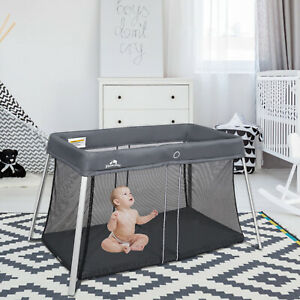 Portable Baby Playpen Playard Mattress Safety Baby Play Pen Yard With Carry Bag