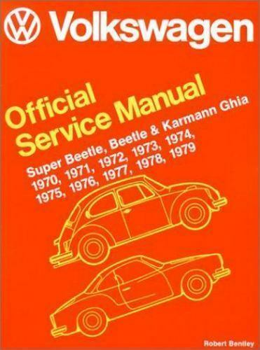 volkswagen beetle super beetle and karmann ghia official service rh ebay com volkswagen station wagon/bus official service manual type 2 volkswagen official service manual pdf