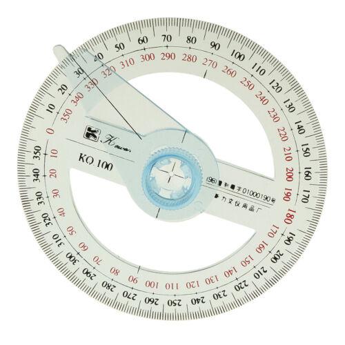 Kunststoff 360 Grad Winkelmesser Lineal Winkel Viewer Swing Arm Schule Büro