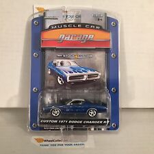 Custom 1971 Dodge Charger R/T * Blue * Greenlight Muscle Garage * NF17