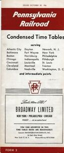 10-29-1-Pennsylvania-Railroad-Condensed-Time-Tables-Brochure-FORM-2-USA