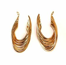 """14k yellow gold twisted earrings jacket 3.9g vintage estate antique 1"""" x 1/2"""""""