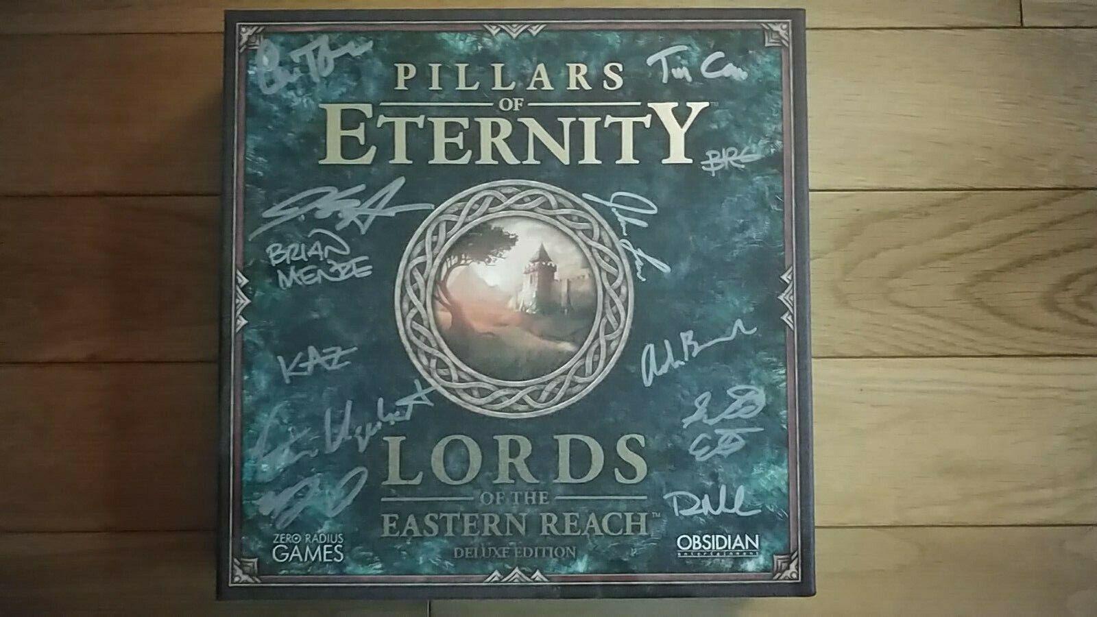 PILLARS OF ETERNITY Lords Eastern  Reach DELUXE KS Exclusive SIGNED BY DEV squadra   elementi di novità