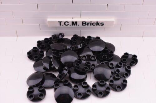 QTY:100 pcs TCM Compatible Bricks Black Round Plate 2x2 Round Bottom Boat Stud