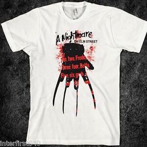 Horror-T-Shirt-Freddy-Krueger-Nightmare-on-Elm-street-Halloween-S-2XL-new
