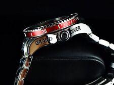 Invicta 300M Grand Diver Gen 2 NH35A Automatic 3D Case & Dial DarkGray/Red Watch