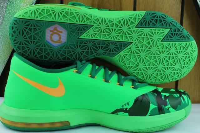 Kd VI (6)  Pascua  Hombre talla  10.5 Baloncesto Nuevo Súper Rara auténtico Lúcido verde