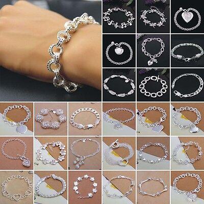 Wholesale Mens Women's Fashion Jewelry S925 Sterling silver SP Bracelet Gift