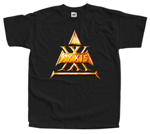 AXXIS BAND LOGO T shirt black all sizes S-5XL 100/% cotton