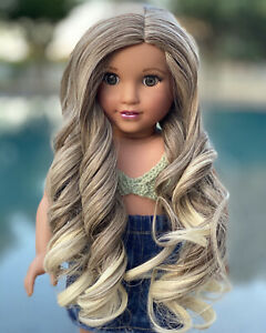 American-Girl-034-Bohemian-Blonde-034-Replacement-Wig-for-18-039-039-Doll-Heat-resistant