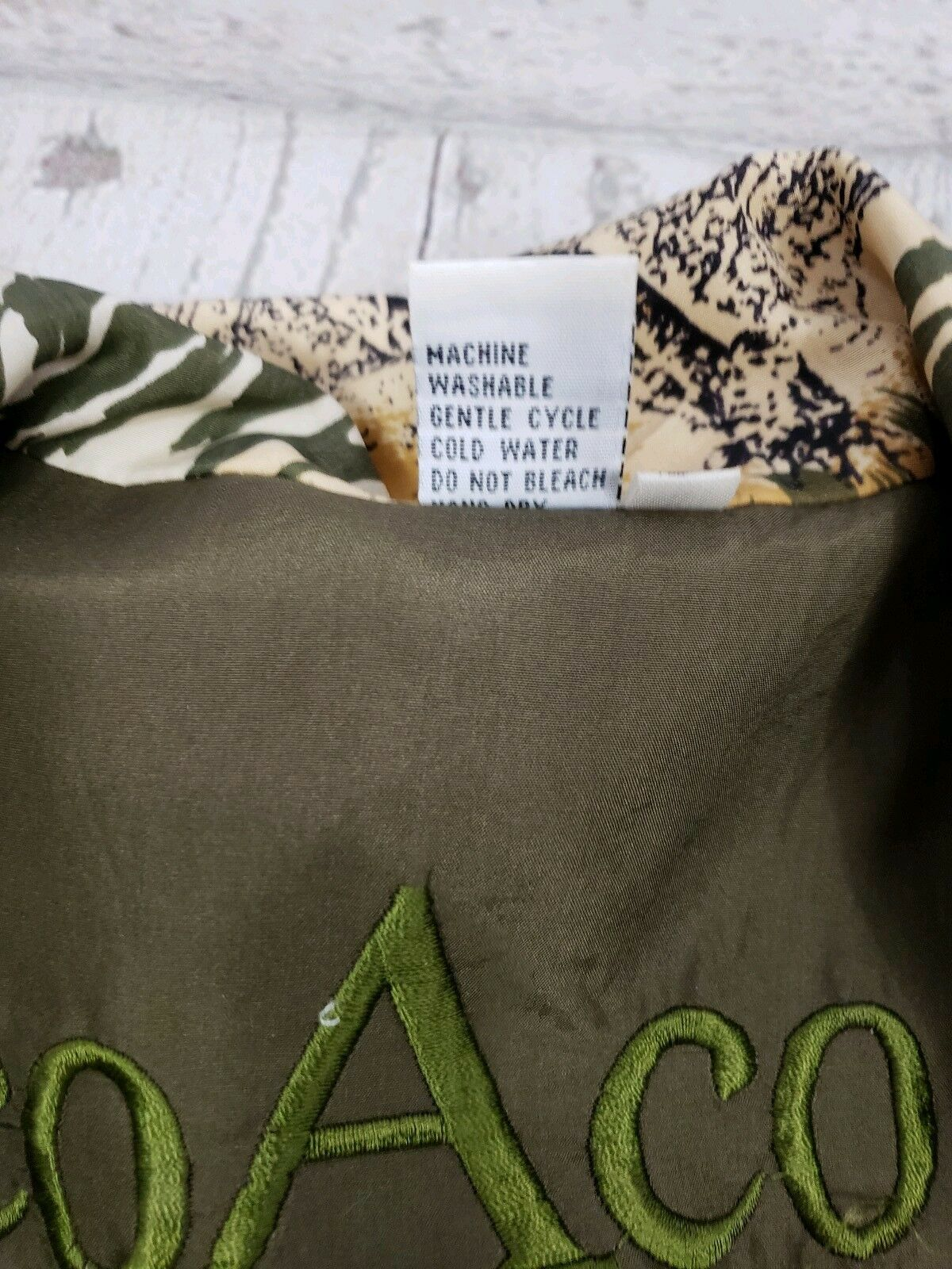 Coaco 100% Silk Small Jacket Multi Color Full Zip… - image 8