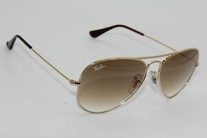 8b5d0a4f53730 RAY-BAN RB 3025 AVIATOR 001 51 GOLD GRADIENT AUTHENTIC SUNGLASSES 55 ...