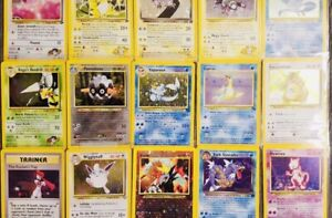 Classic-Vintage-Old-School-Pokemon-1st-2nd-Generation-3-Card-Holo-Rare-Lot-Real