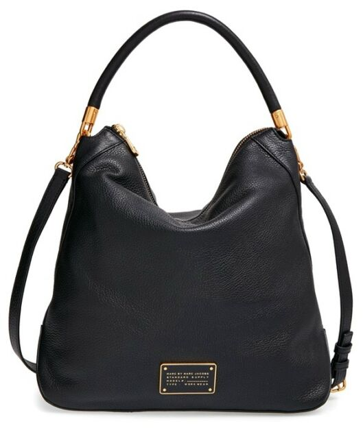 b2eb4671b78b NWT MARC by MARC JACOBS Too Hot To Handle Leather Hobo Bag BLACK  480  AUTHENTIC!