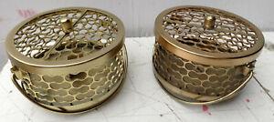 Porta Zampirone In Alluminio Traforato Cm15x10 Color Oro Orato Brucia Zampironi