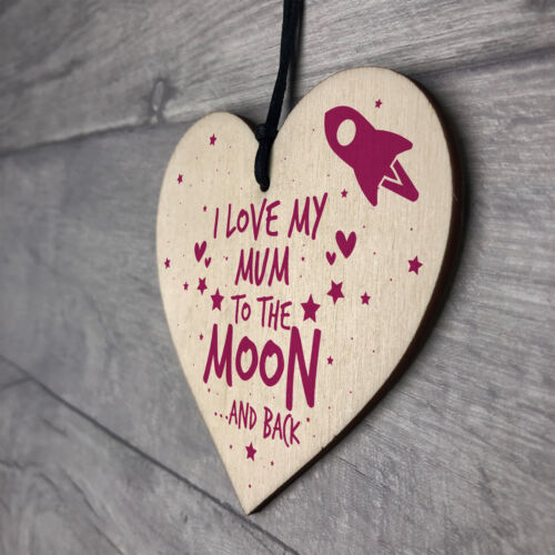 Birthday Gift For Mum Sign Mummy Wooden Heart Special Keepsake Thank You Gift