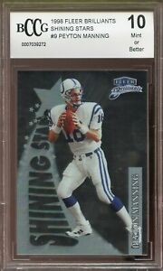 1998-Fleer-Brilliants-9-Peyton-Manning-Rookie-Card-BGS-BCCG-10-Mint
