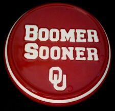 "University of Oklahoma Boomer Sooner Logo Ceramic Mini Wall/Desk Plaque 5.25"""