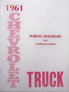 1962 c10 pickup wiring diagram 1961 chevy truck wiring diagram manual ebay  1961 chevy truck wiring diagram manual