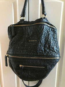 79054ed2cf13 Givenchy Medium Pandora Bag RARE Pebbled Black Leather 9900047849734 ...