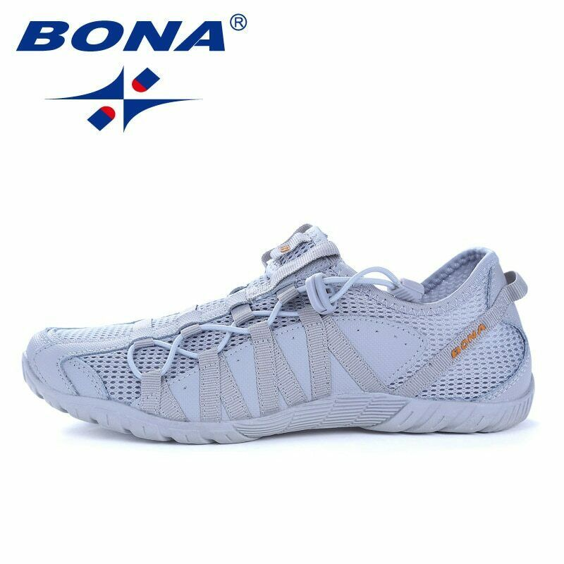 BONA Popular Style Men Running shoes Lace Up Athletic shoes Outdoor Walkng joggi