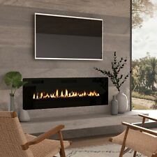 Latitude Run Callan Recessed Wall Mounted Electric Fireplace For Sale Online Ebay