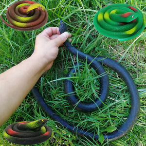 Animals & Nature Devoted Fake Snake That Look Real Rubber Scary Gag Durable Garden Prop Realistic Toy Car