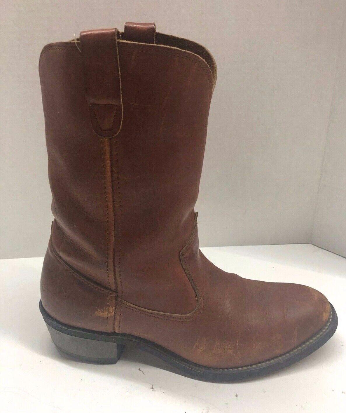 Double H Western Cowboy Boots Men's Size 8.5 D Brown