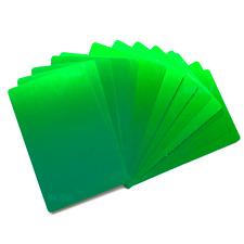 100 Green Aluminum Business Card Blanks Laser Engraving Sheet Metal Cnc Plate
