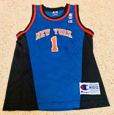 competitive price 54247 cf7c5 Boys Authentic New York Knicks Jersey NBA Basketball Throwback Vintage  Medium 12 | eBay