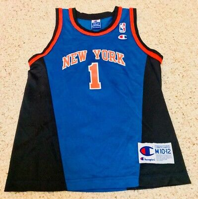 competitive price 92ee1 47fec Boys Authentic New York Knicks Jersey NBA Basketball Throwback Vintage  Medium 12 | eBay