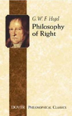 Philosophy of Right by G. W. F. Hegel (Paperback, 2005)