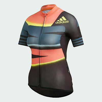 Women's Adidas Adistar Cycling Biking App Solar Red Shock Jersey [FJ6600/Sizes] | eBay