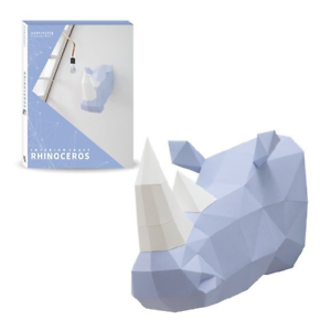 Rhinoceros Rhino 3D Origami Paper Folding Kids DIY Animal Model Kit Set Craft