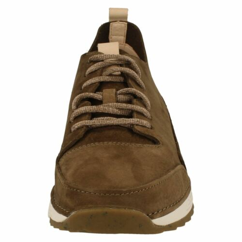 TRI SPARK MENS CLARKS KHAKI LACE UP CASUAL CUSHION SPORTS TRAINERS SHOES SIZE