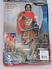 Size XXL Men's Red Gold Caesar Costume Cosplay Halloween Sexy Dream Guy Costume